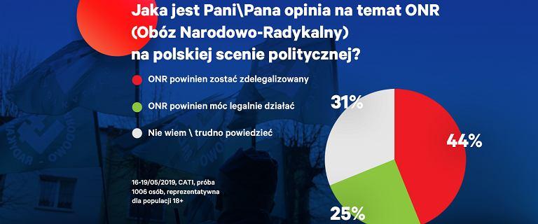 Prawie połowa Polaków chce delegalizacji ONR. Różnice między wyborcami PiS i PO