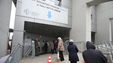 Punkt szczepień i szpital tymczasowy w Netto Arenie