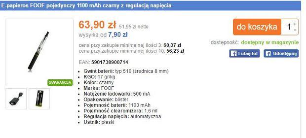 E-papierosy w polskich sklepach online