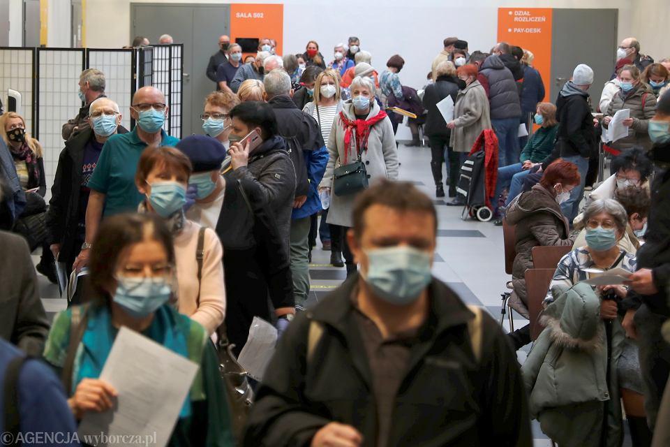 Punkt szczepień w Hali Expo w Krakowie