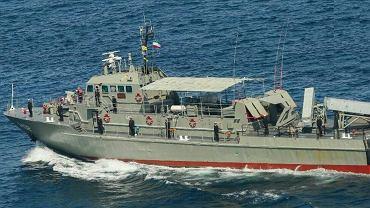 Zatopiony irański okręt Konarak