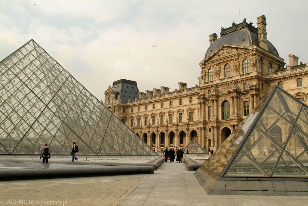 Luwr, muzeum sztuki w Paryżu.