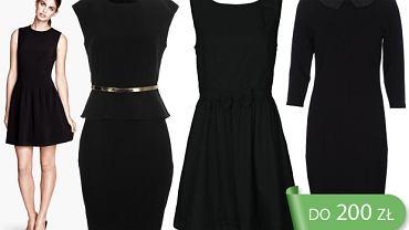 Czarne sukienki do 200 zł - idealne do pracy
