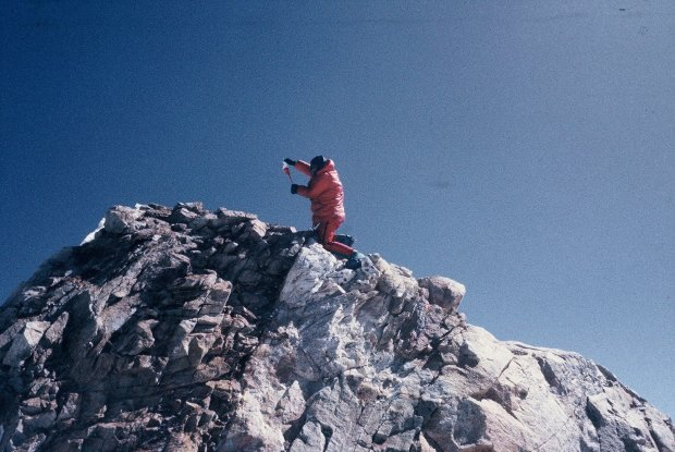 Maciej Berbeka na szczycie Manaslu (fot. Ryszard Gajewski)