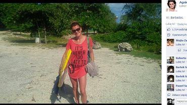 Agnieszka Radwańska podczas wakacji na Barbadosie