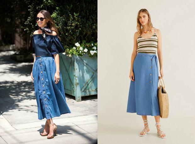 Jeansowe, długie spódnice noś w wersji eleganckiej i na sportowo