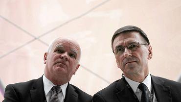 Prezes Lech Chudy i prezydent Piotr Grzymowicz