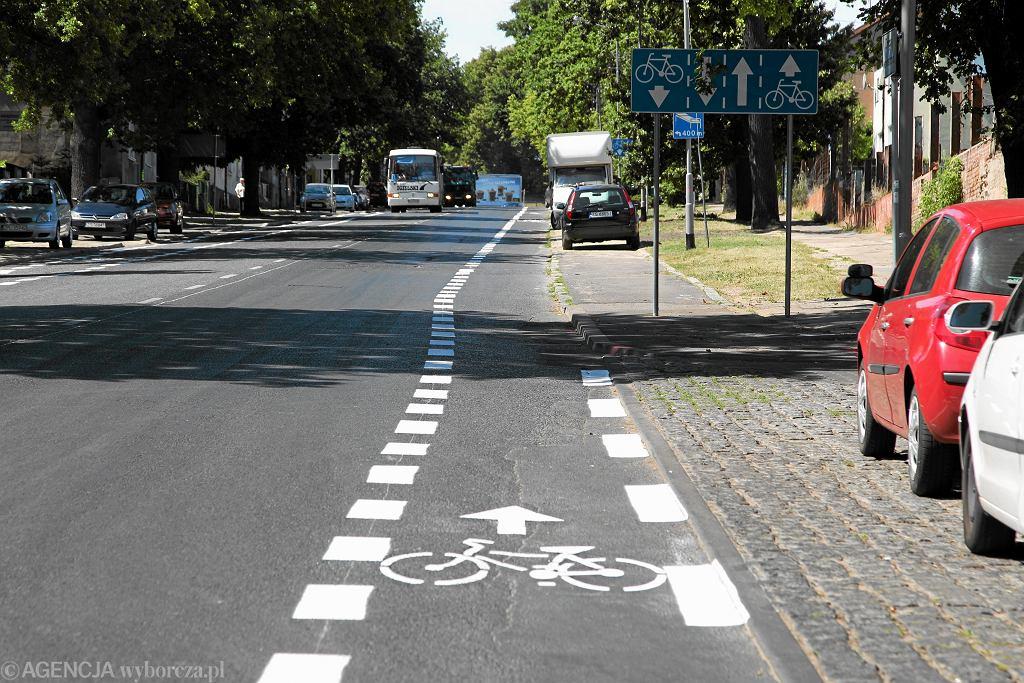 Pas dla rowerów w Szczecinie