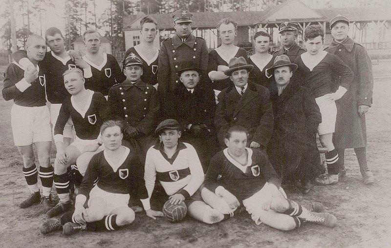 30 maja 1920 roku rozegrano pierwszy mecz w historii Jagiellonii. Na zdjęciu zespół z 1932 roku