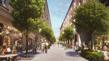 Ulica Chmielna - wizualizacja