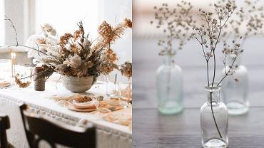Jesienne kompozycje z kwiatów