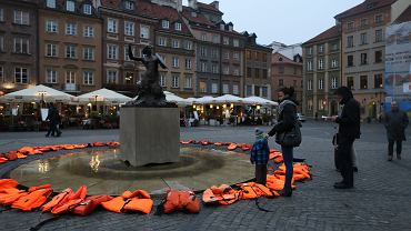 Akcja 'Pamiętajmy o uchodźcach'. Warszawa,19 października 2016