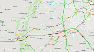 Wypadek na autostradzie A4. Olbrzymi korek w stronę Wrocławia