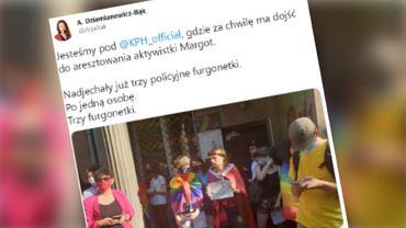 Zatrzymanie aktywistki LGBT. Na miejscu jest posłanka Lewicy  Agnieszka Dziemianowicz-Bąk