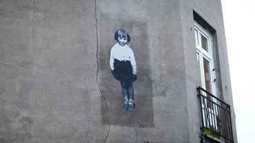 Projekt Dzieci Bałut. Mural upamiętniający Abramka Cytryna, ulica Starosikawska 9.