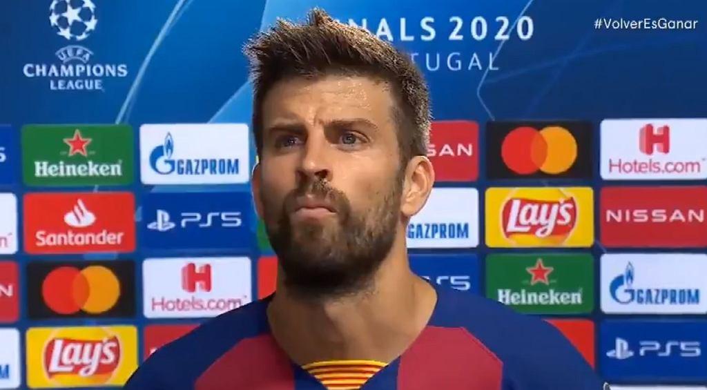 Gerard Pique po odpadnięciu Barcelony z Ligi Mistrzów