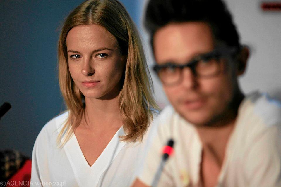 Marta Nieradkiewicz i reżyser Tomasz Wasilewski.