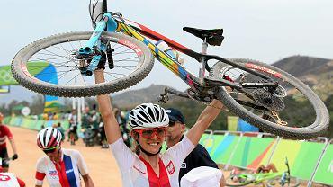 Maja Włoszczowska podczas igrzysk olimpijskich w Rio de Janiero