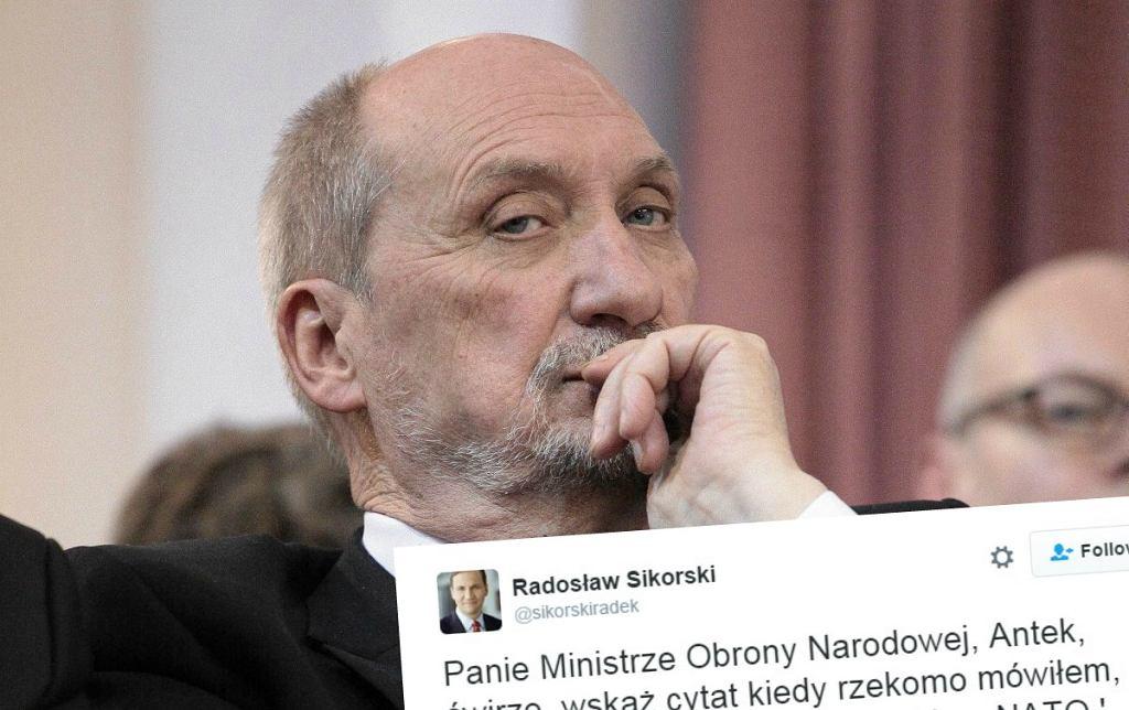 Radosław Sikorski do Antoniego Macierewicza