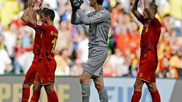 Thiabaut Courtois. Bramkarz Belgii po wygranym meczu z Rosją