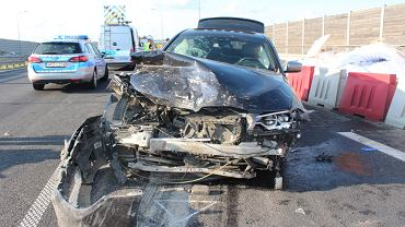 Wypadek na trasie S8. Nie żyje kierowca ciężarówki