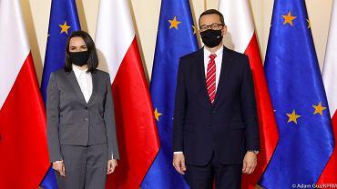 Swiatłana Cichanouska w Warszawie