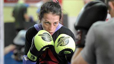 Joanna Jędrzejczyk podczas treningu w klubie Arrachion Olsztyn