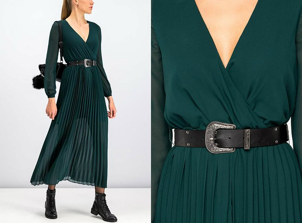 Szmaragdowa sukienka Guess