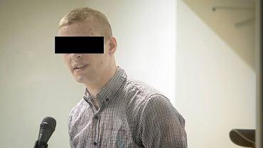Sąd Okręgowy w Poznaniu. Proces Adama Z. oskarżonego o zabójstwo Ewy Tylman. Na zdjęciu: oskarżony Adam Z.