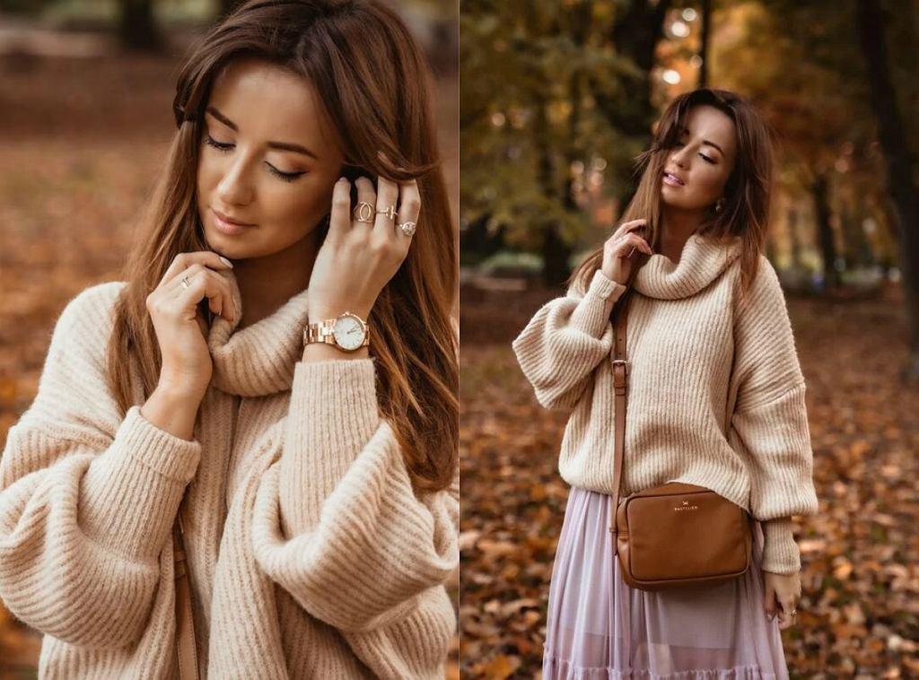 Swetry z golfem na jesień