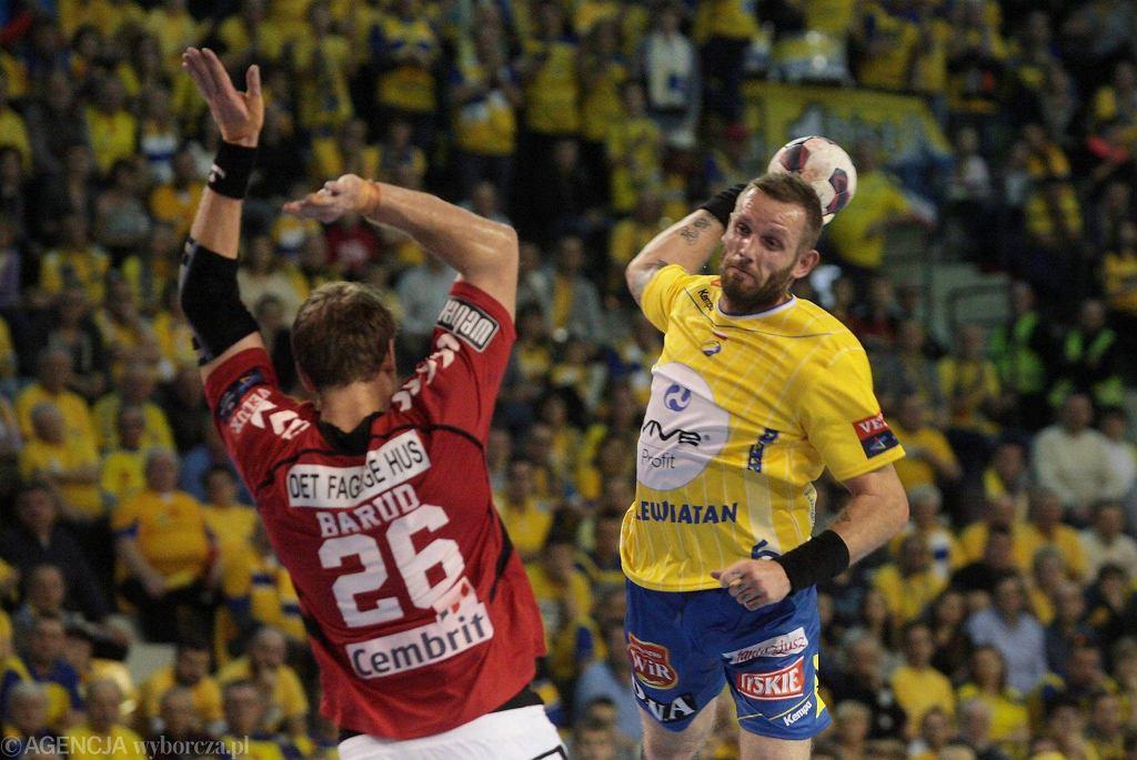 Grzegorz Tkaczyk podczas meczu Vive Tauron Kielce - Aalborg