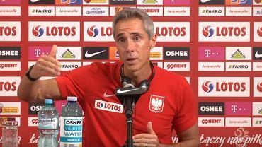 Paulo Sousa na konferencji prasowej