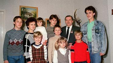 Lech Wałęsa z rodziną