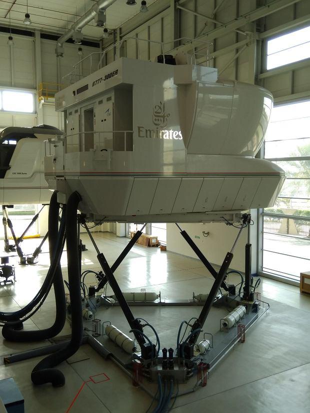 Symulator lotów w centrum szkolenia załóg Emirates w Dubaju