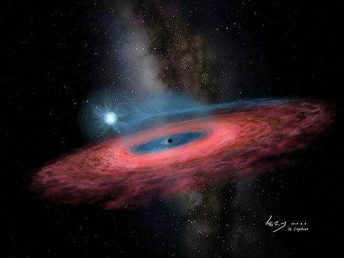 Wizualizacja czarnej dziuy LB-1