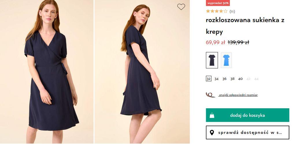 sukienka kopertowa Orsay