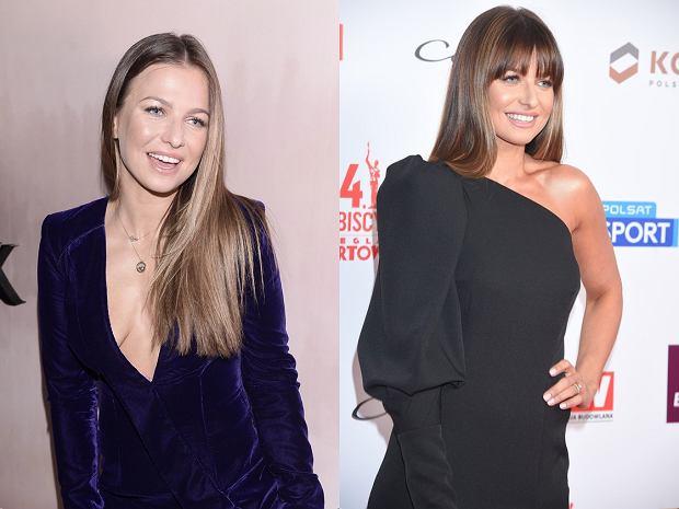 Anna Lewandowska przed i po zmianie fryzury w 2018 roku