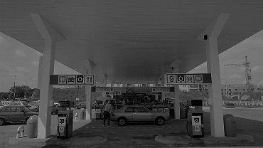Stacja CPN w Warszawie na Ursynowie przy Megasamie, 1993 rok