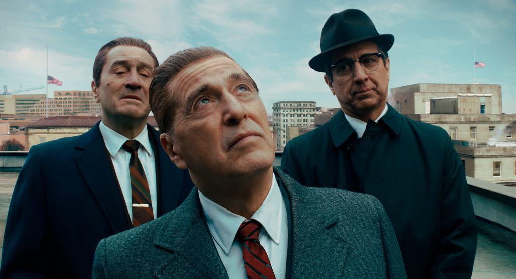 Kadr z filmu 'Irlandczyk'. Na zdjęciu Robert De Niro, Al Pacino i Ray Romano