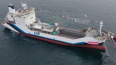 Pierwszy tankowiec na świecie do transportu skroplonego wodoru
