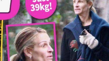 Julia Roberts ma anoreksję? Tabloid twierdzi, że waży 39 kg. Na okładce wygląda jak cień człowieka. Porównaliśmy ją z aktualnymi zdjęciami gwiazdy
