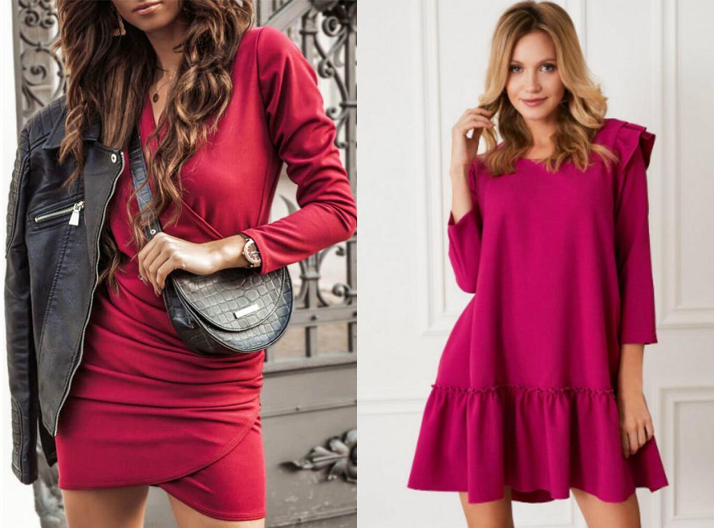 Sukienki w kolorze magenty