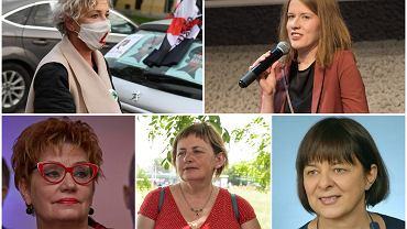 Wrocławianki Roku. U góry od lewej: Anna Kowalczyk-Derlęga i Justyna Pelc. U dołu od lewej: Wanda Ziembicka-Has, Małgorzata Piszczek, Bożena Ryszawska