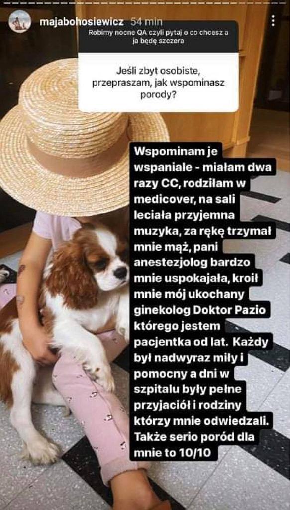 Maja Bohosiewicz wspomina porody. Szczegółowa odpowiedź zaskakuje. '10/10'