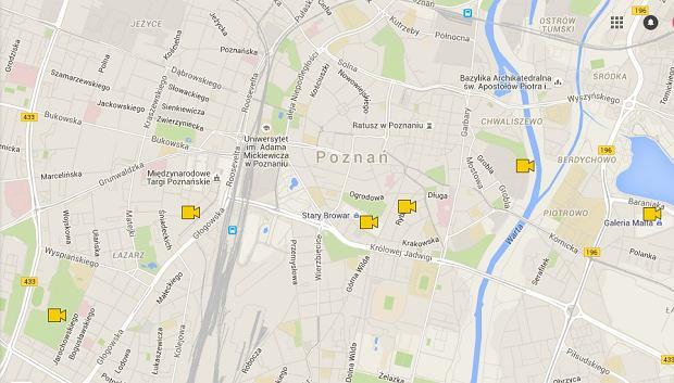 Mapa Kin Letnich W Poznaniu