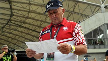 Marek Cieślak, trener żużlowej reprezentacji Polski. Zawody Speedway of Nations na wrocławskim Stadionie Olimpijskim