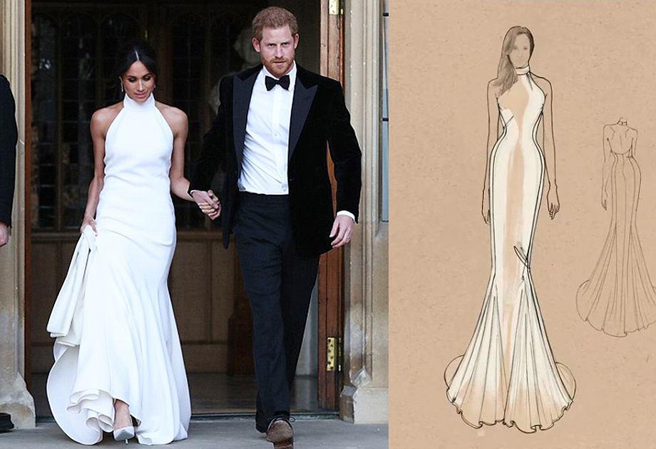 Suknia ślubna Meghan Markle z dekoltem amerykańskim