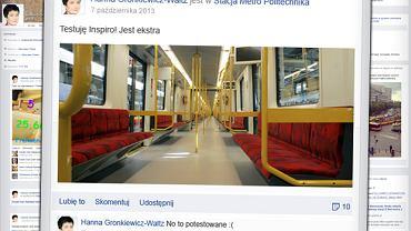 Alternatywny profil Hanny Gronkiewicz-Waltz na Facebooku