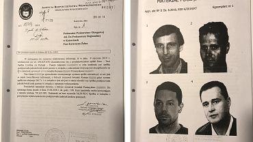 Operator TVN Piotr Wacowski na tablicy poglądowej ABW (pierwszy z lewej u dołu)