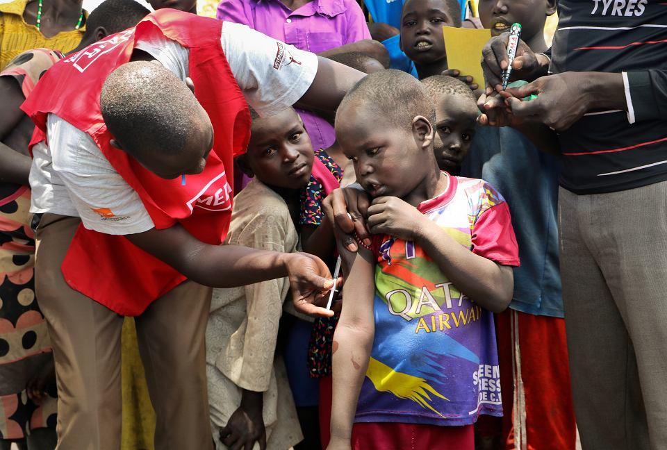 Szczepienia w Południowym Sudanie, 17 kwietnia 2019 r.